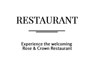 Restaurant Overlay
